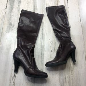 Franco Sarto Brown Leather Boots size 9M